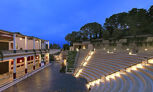 Outdoor theatre at The Getty Villa